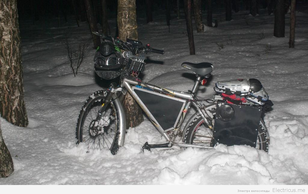 Электровелосипед зимой