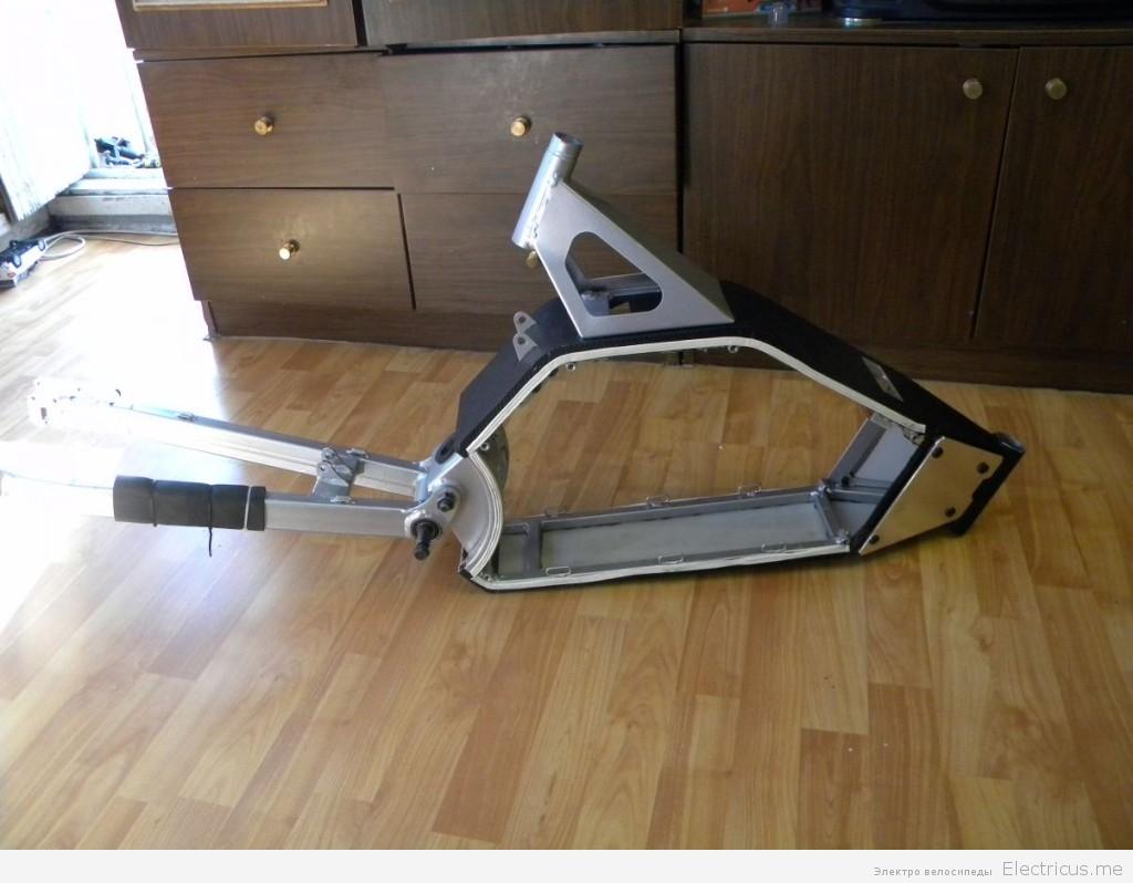 Электровелосипед двухподвес