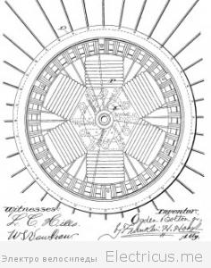 Электровелосипед.  Огден Болтон. 1000вт. 1895г.