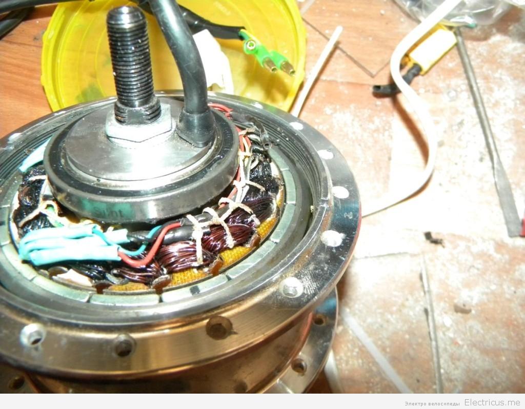 ремонт мотор колеса своими руками
