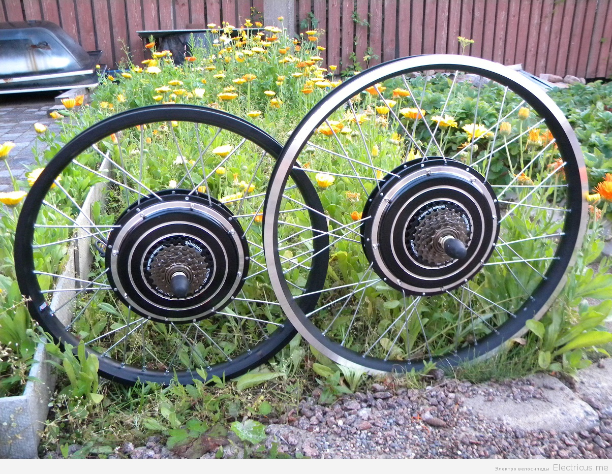 Комплект мотор колесо своими руками 77