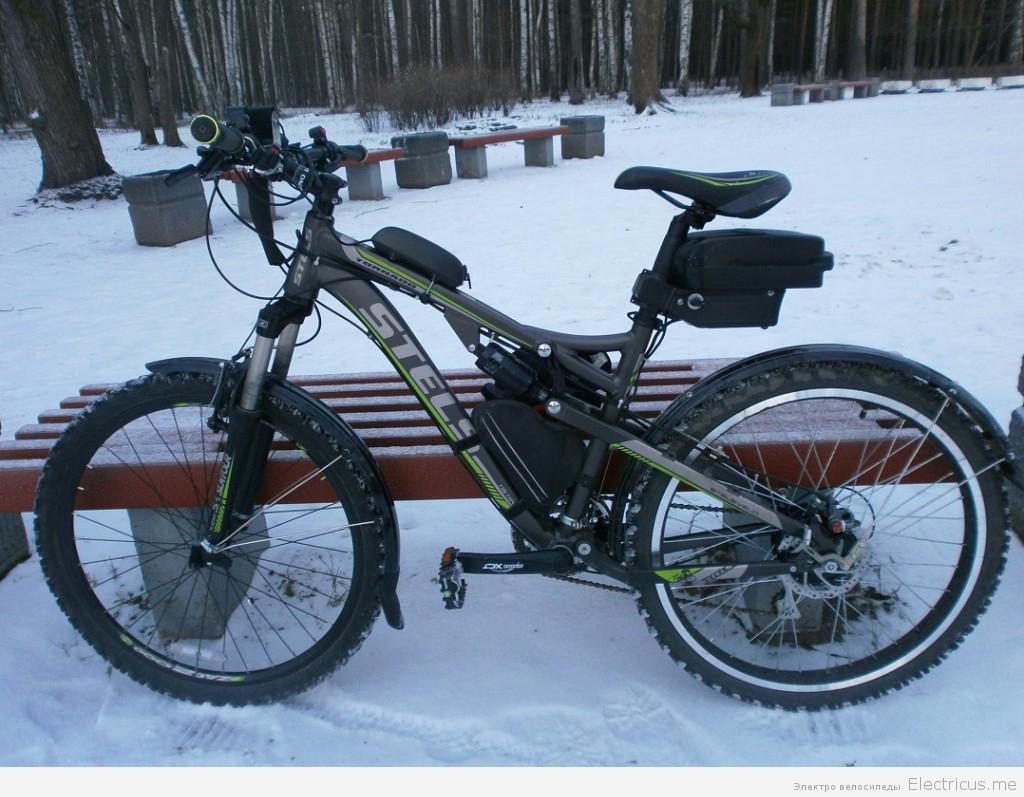езда на электровелосипеде зимой