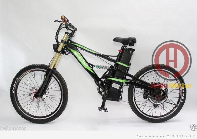 двухподвесная рама для электрического велосипеда