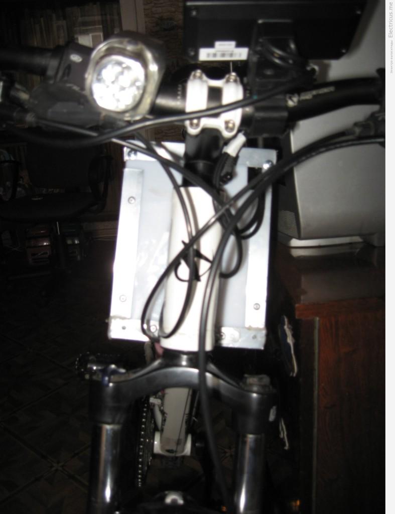 Электровелосипед вид спереди