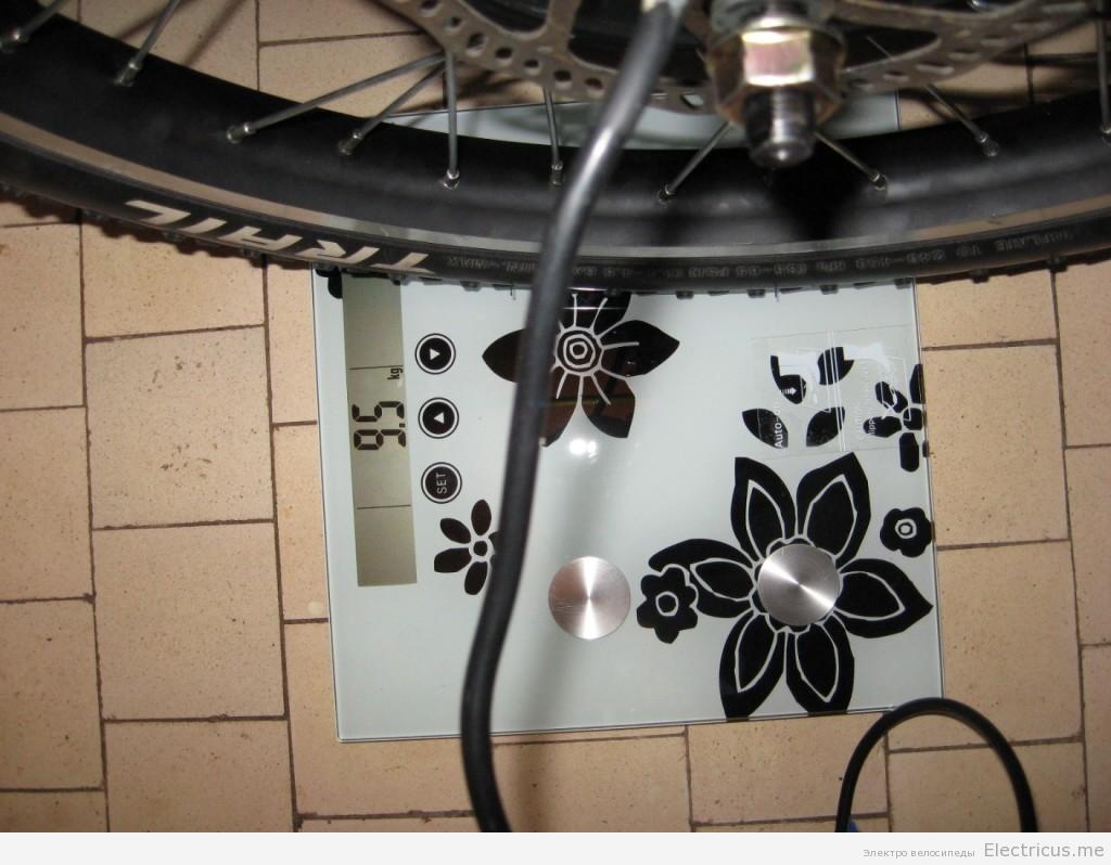 Взвешивание мотор колеса