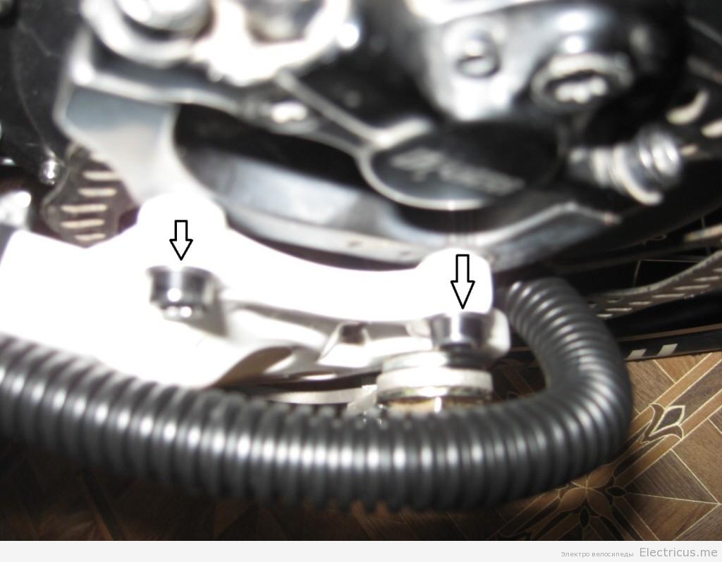 Установка тормоза на мотор колесо.