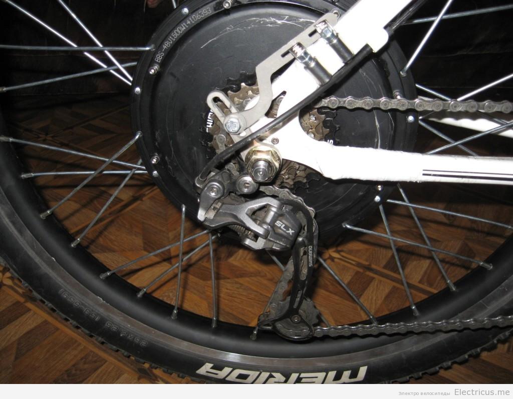 Установка усилителя дропаута мотор колеса