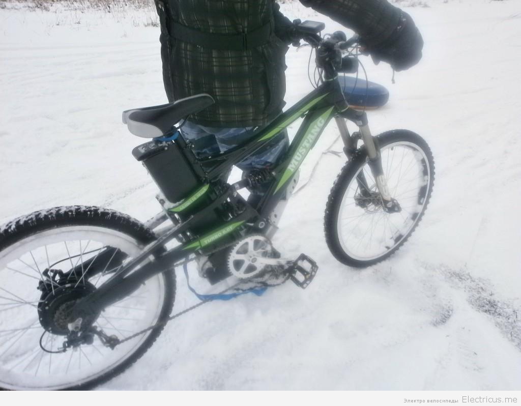 катание на электричесвом велосипеде и самокате зимйо СУО