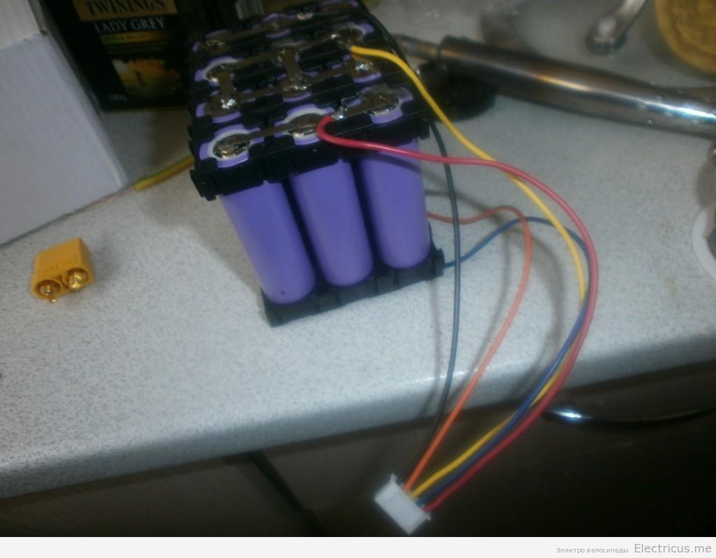 сборка li-ion аккумулятора из ячеек