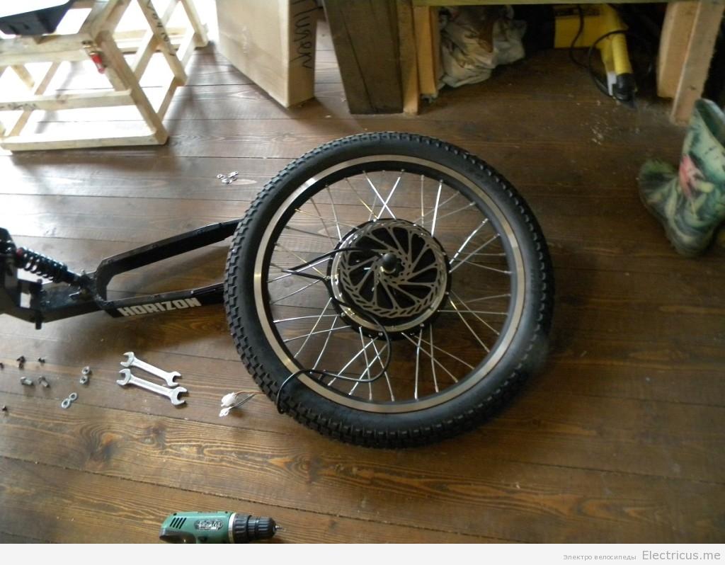 Спицовка мощного мотор колеса