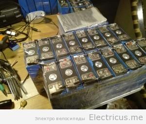 Сборка акб электровелосипеда